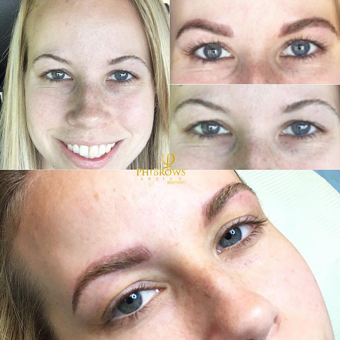 Microblading a two step process